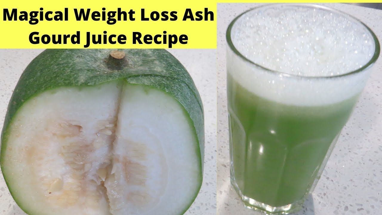 How to make Winter melon Juice in Blender   Ash Gourd Juice   2 Minutes Detox Juice Recipe