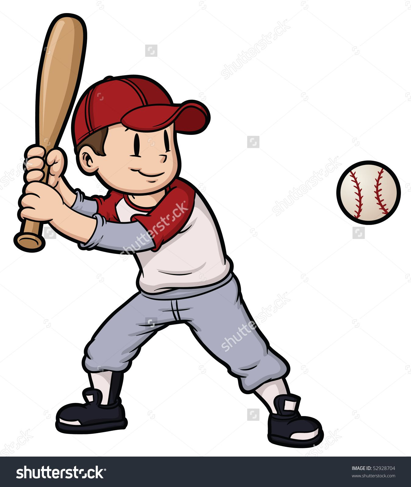 Stock Vector Cartoon Boy Playing Baseball Baseball And Character On Separate Layers For Easy Editing 52928704 Jpg 1348 1600 Cartoon Boy Baseball Cartoon