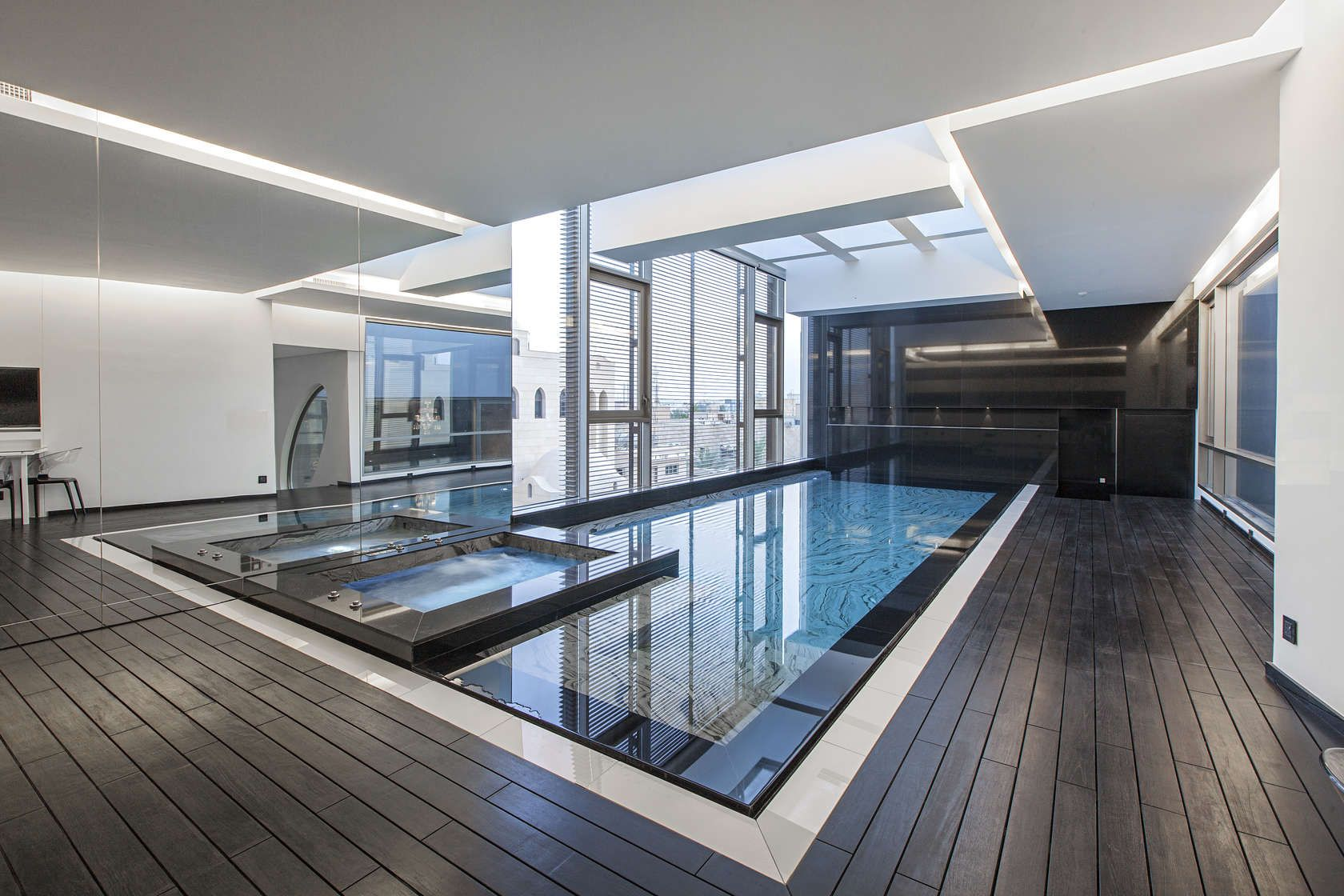 Ultramodern grey tone al saif residence in kuwait