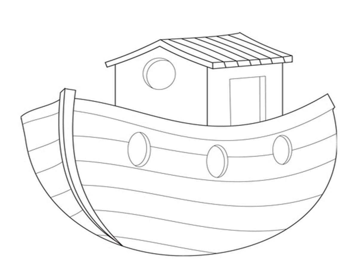 Dibujos Para Colorear Del Arca De Noe Para Imprimir