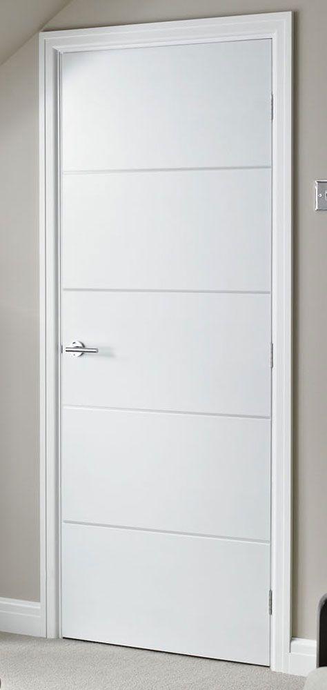 Horizontal 4 Lines Smooth White Primed Door & Horizontal 4 Lines Smooth White Primed Door   6、B、室内门 ... Pezcame.Com