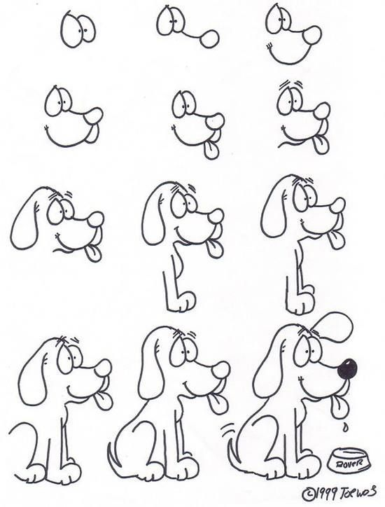 How To Draw A Dog Como Dibujar Un Perro Hacer Dibujos Para Ninos Como Dibujar Animales