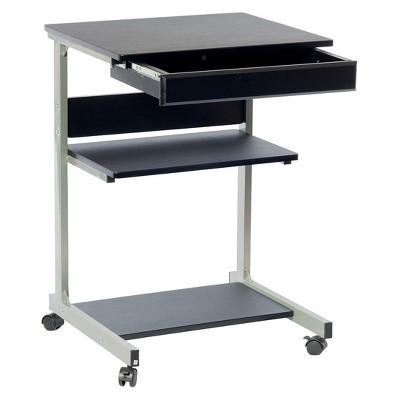 Rolling Laptop Cart With Storage Black Techni Mobili Laptop Desk Desk Storage Student Laptops