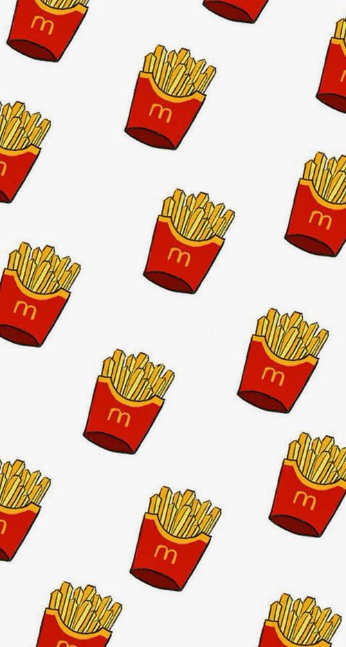 Image Result For French Fry Pattern Cute Food Wallpaper Cute Wallpapers Wallpaper Iphone Cute