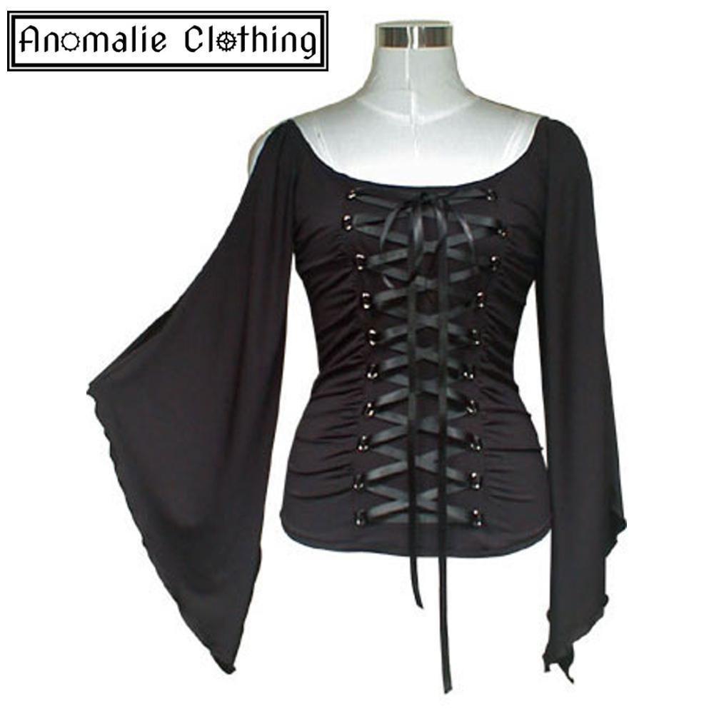 Black Stretch Lace-Up Corset Top