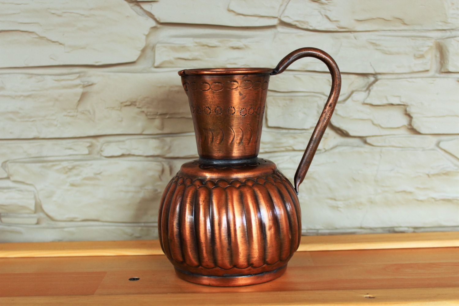 Decorative Jugs And Vases Antique French Copper Pitcher Copper Water Jug Brass Decorative