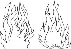 How To Draw Flames Step 4 Drawing Flames Fire Drawing Fire Sketch