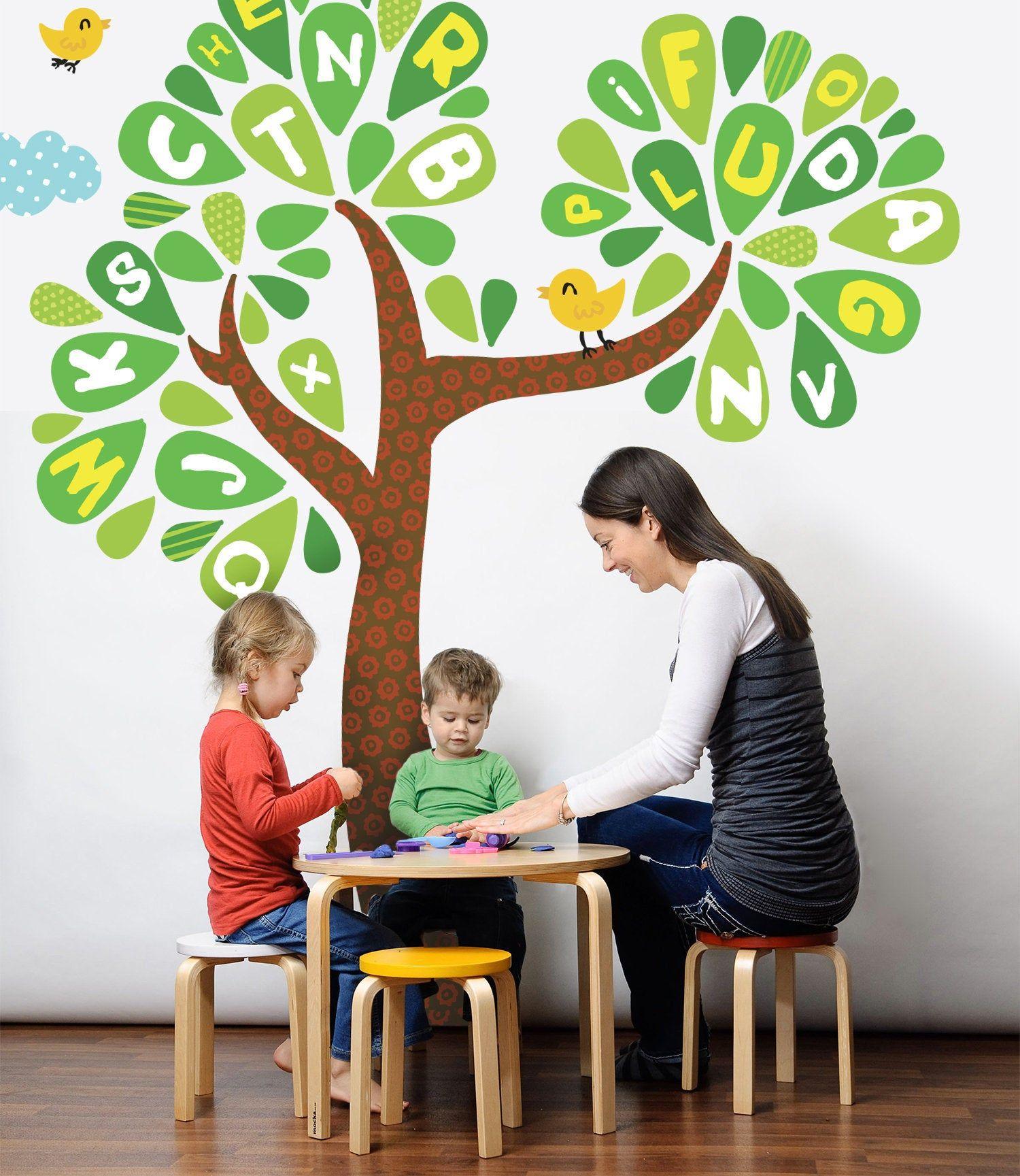 Alphabet Tree Wall Decal, Alphabet decals, Kindergarten ...