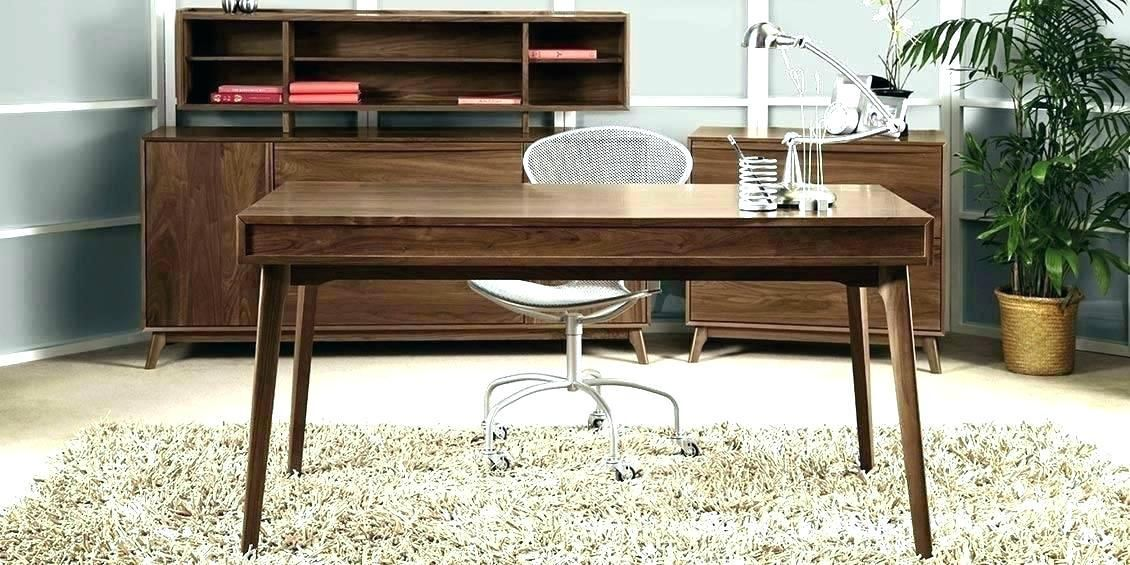 Contemporary Wood Office Furniture Vintage Modern Wooden Home