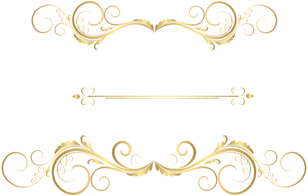 Gold Dividing Line Png And Vector Overlays Transparent Background Transparent Text Gold Clipart