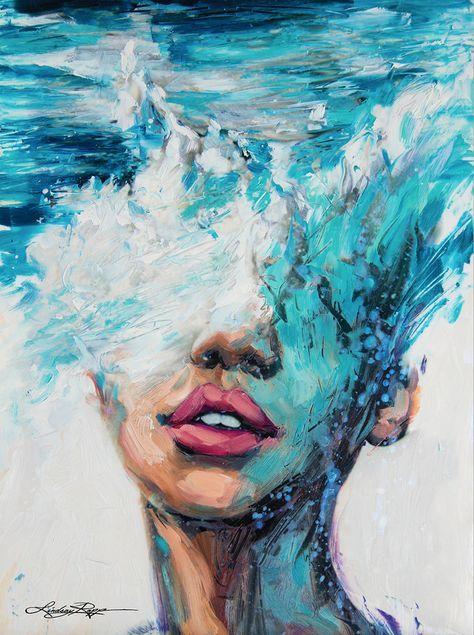 Esta extraordinaria artista pinta elmar como sifuera una hermosa mujer
