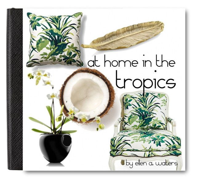 """""""at home in the tropics"""" by ellenawaters ❤ liked on Polyvore featuring art and diybookcover"""