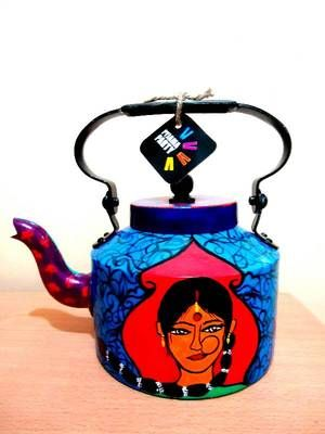 Pyjama Party's range of colourful handpainted kettles add a
