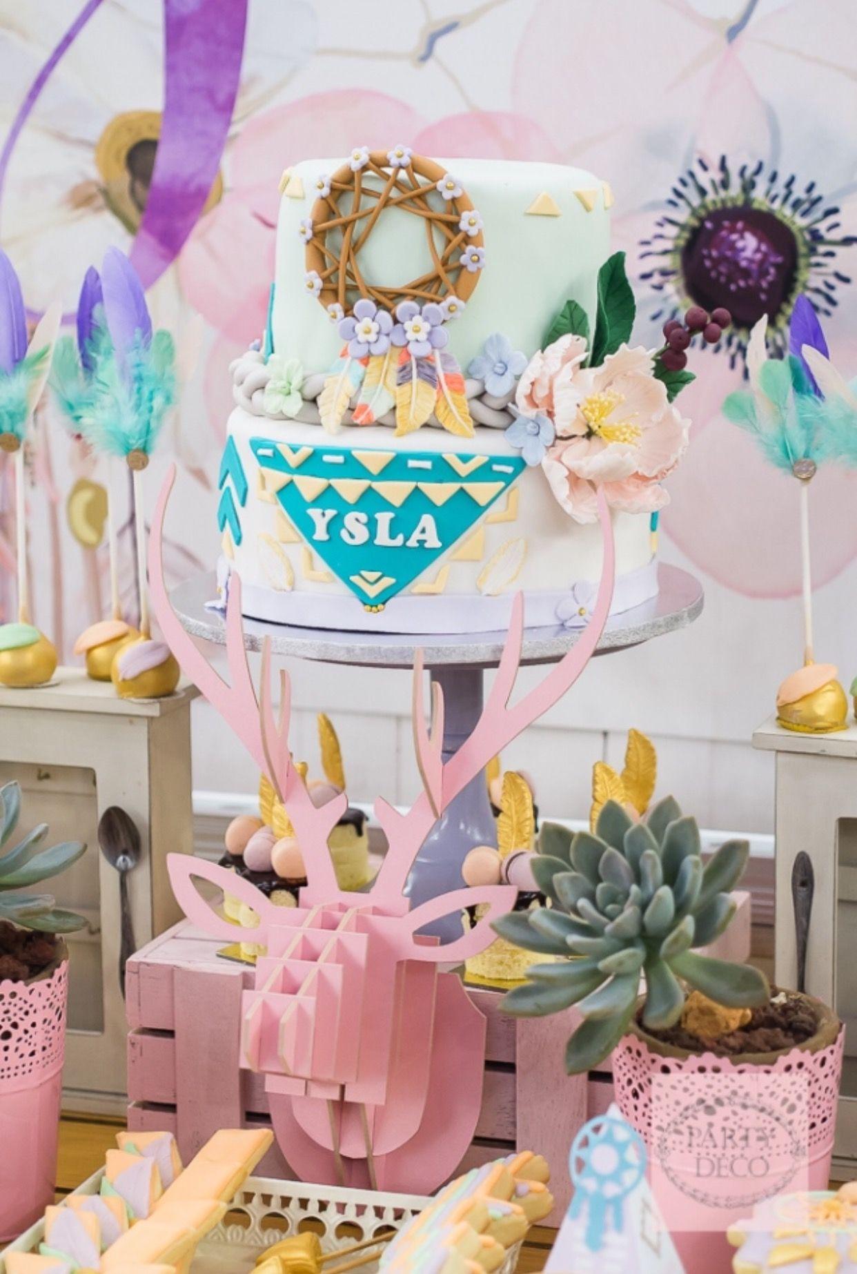 Yslas Boho Chic Themed Party Dessert Spread