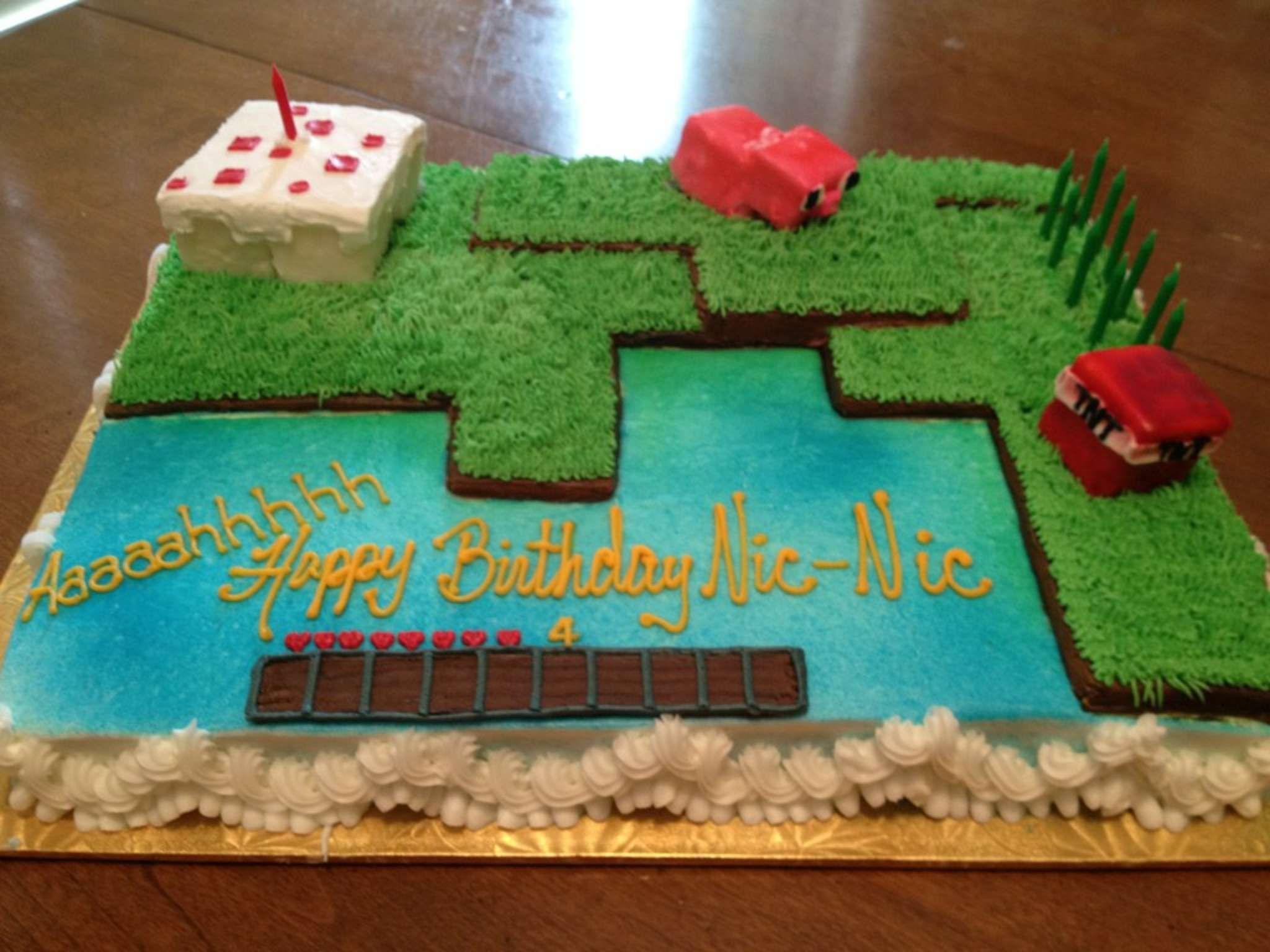 Minecraft cake Cakes Pinterest Minecraft cake Cake and Birthdays