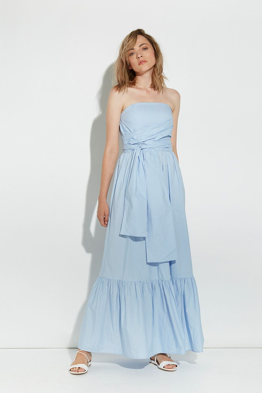 Friend of audrey penelope cotton maxi dress winter brights