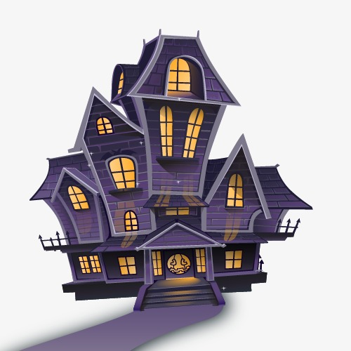 Cartoon Halloween Haunted House Halloween haunted houses