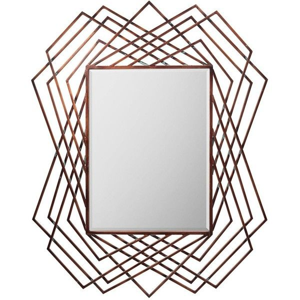 Geometric Wall Mirror gallery specter wall mirror (£149) ❤ liked on polyvore featuring