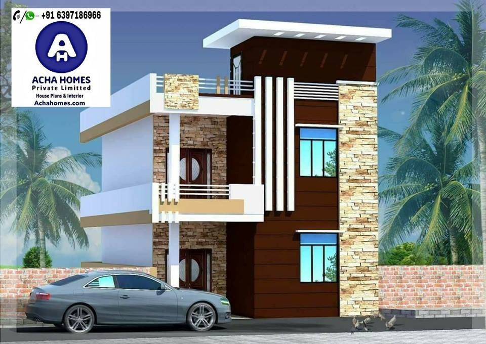 25 Feet By 60 Stylish House Plan With 4 Bedrooms Duplex House Design Small House Elevation Design Small House Front Design