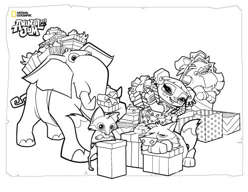 Animal Jam Coloring Pages The Daily Explorer Animal jam party