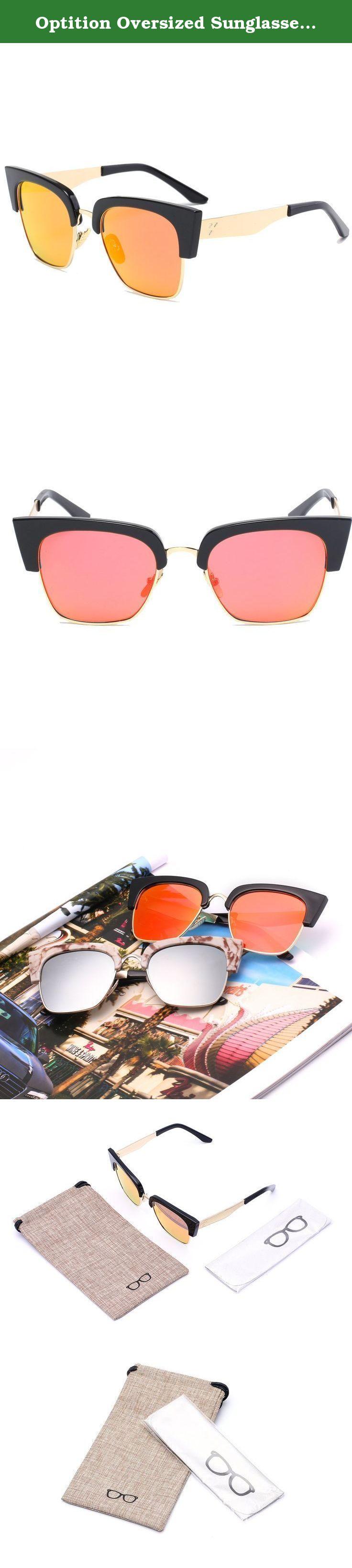 Optition Oversized Sunglasses Unisex Flat Top Square Frame Fashion