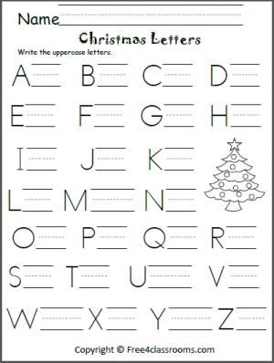 free christmas uppercase letter practice christmas christmas worksheets pre k worksheets. Black Bedroom Furniture Sets. Home Design Ideas