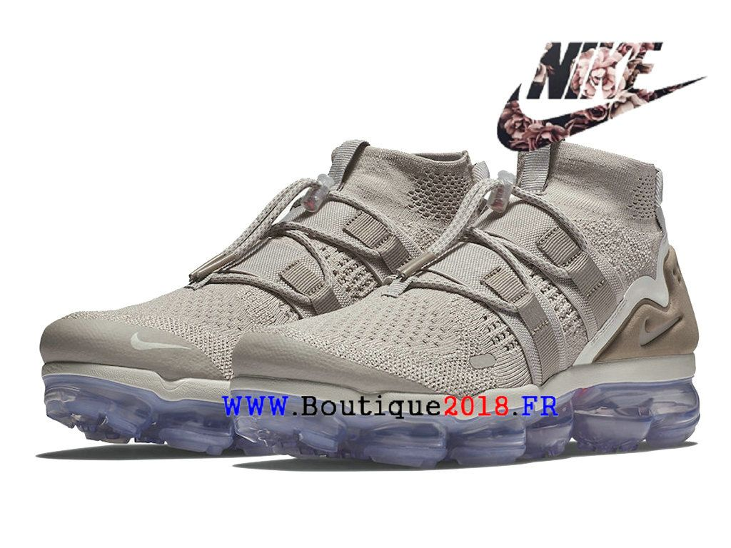 competitive price 2f53c 881ab Nike Air VaporMax Flyknit utility Pas Cher Prix Asphalt Chaussures Homme  Moon-Particle-Persian