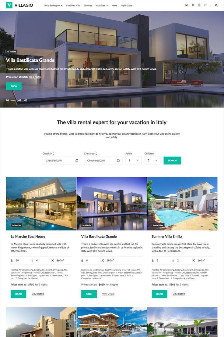 Vilagio Property Booking WordPress Theme 64831 Real