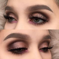 """""""Simple look with the @urbandecaycosmetics gwen stefani palette ☺️ To achieve this look I also used @houseoflashes falsies in wispy temptress and…"""""""