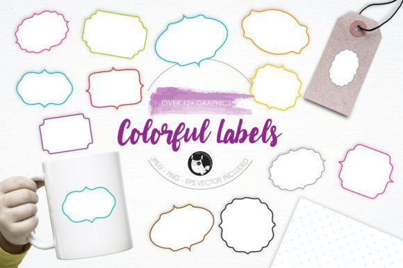 Colorful Labels Free Design Elements Labels Graphic