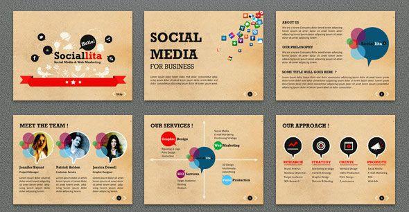 Sociallita-Keynote-Template | Powerpoint | Pinterest | Social