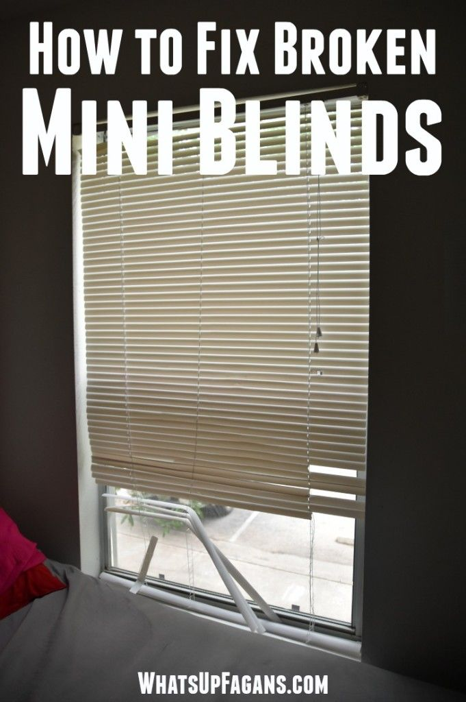 Great Diy Tutorial On Mini Blind Repair To Fix Blinds My Kids Break Them All The Time Apartment Living Tip That Will Save Money