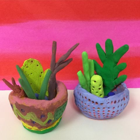Mrs Knights Smartest Artists Clay Cacti And Pinch Pots