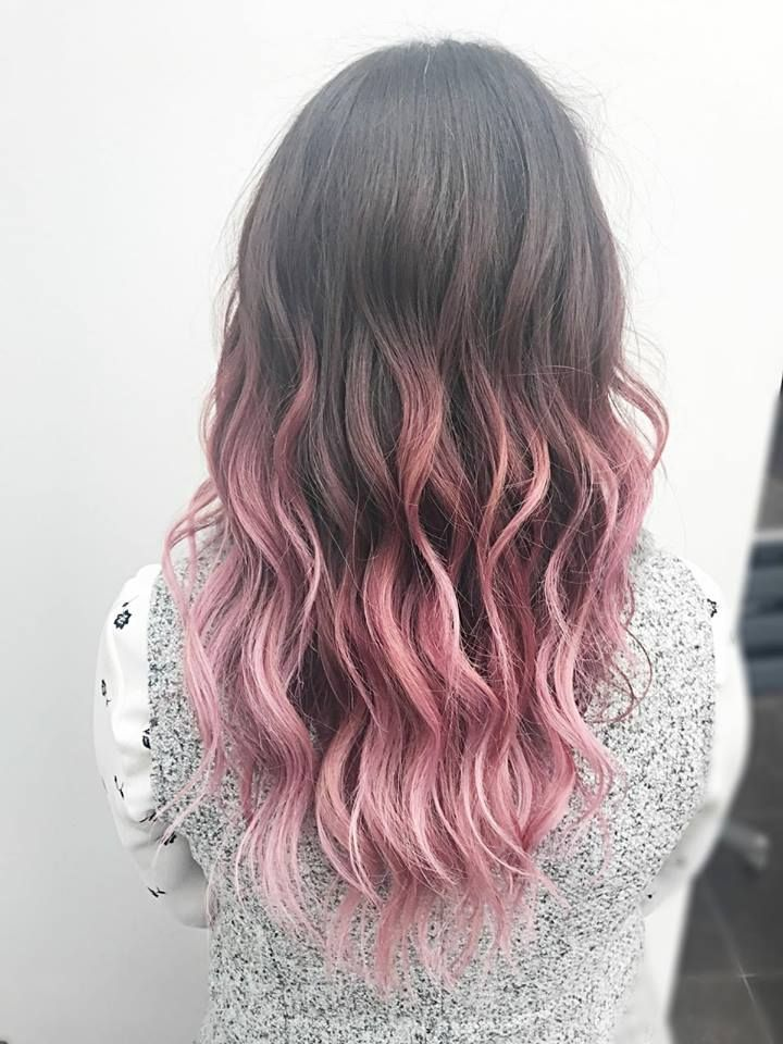 Pink Ombre By Xyz Verviers Heusy Pink Hair Tips Pink Hair Dye Brown Ombre Hair