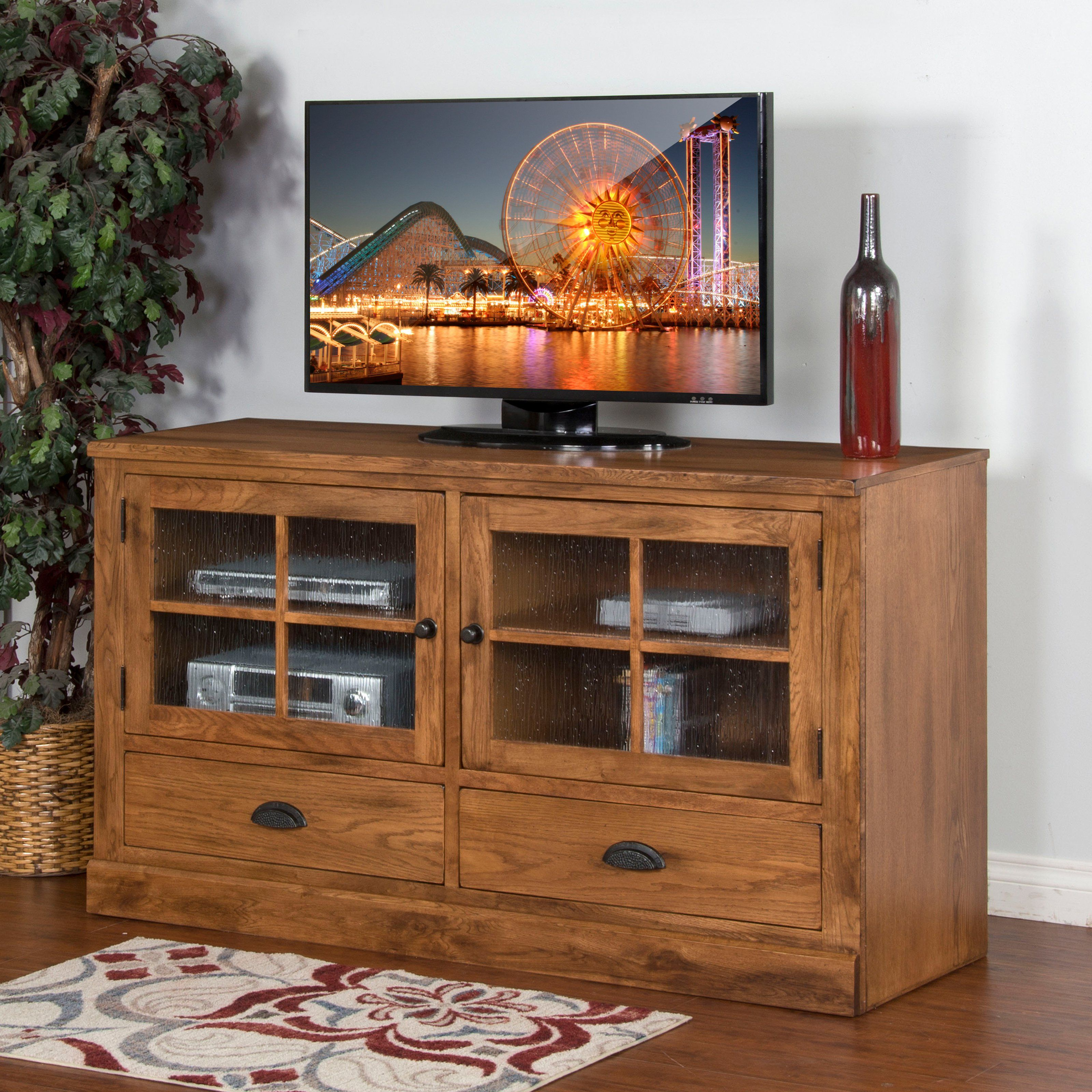 Entertainment Center Rustic Oak You Have Two Terrific Options To Choose From When Selecting The Sunny Designs Sedona 63 In