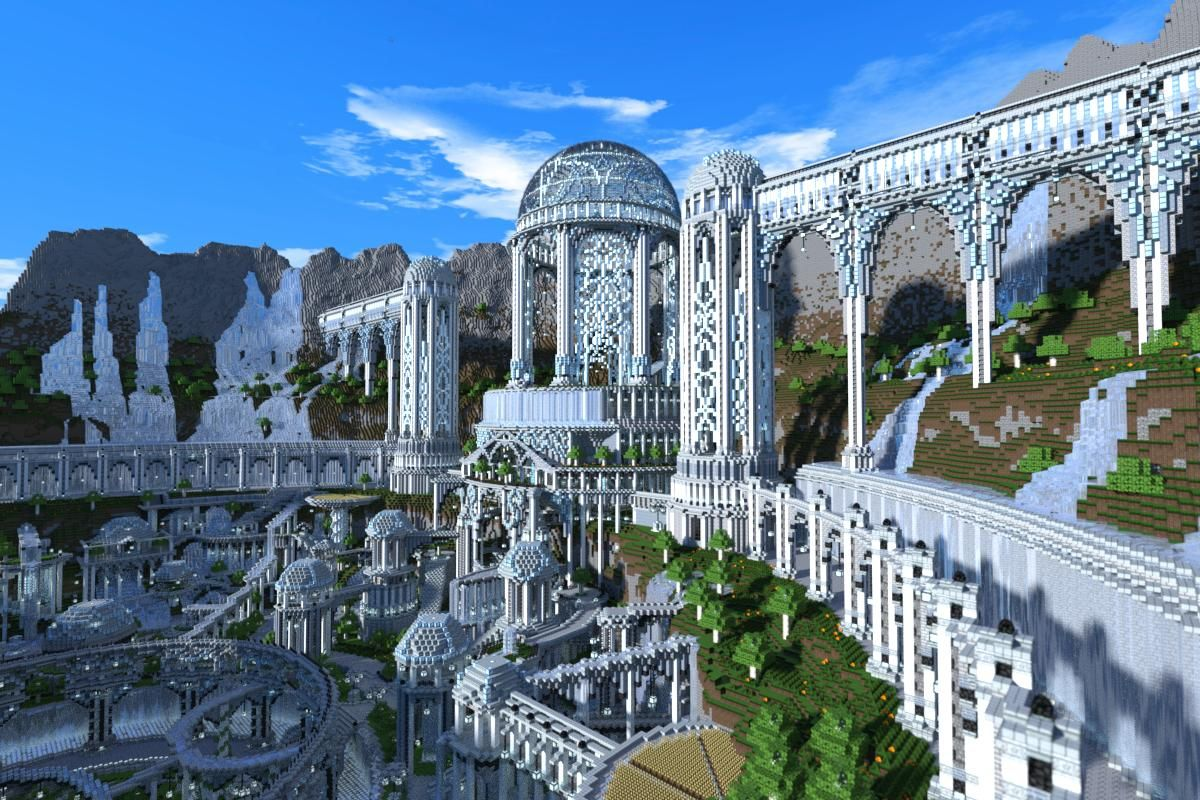 3 Months And 60 Million Blocks A Fantasy City In Minecraft