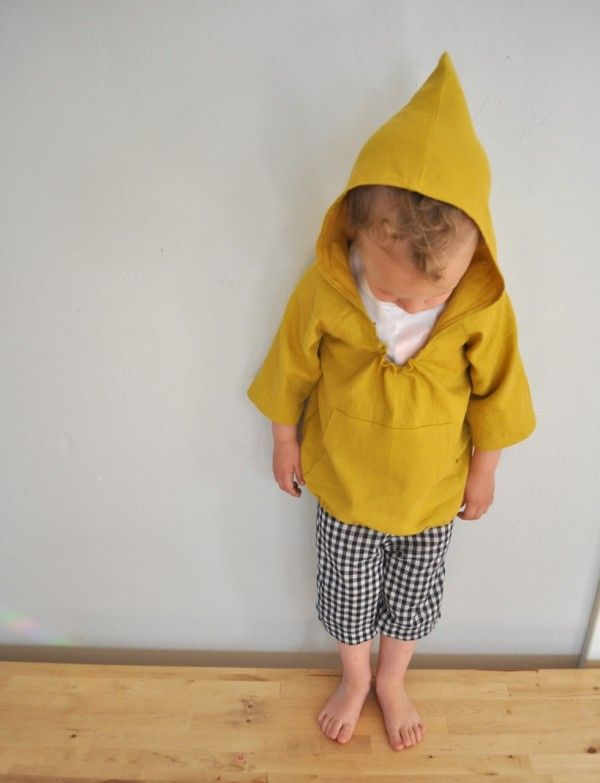 Yellow linen hoodie (from Happy Homemade vol 2)