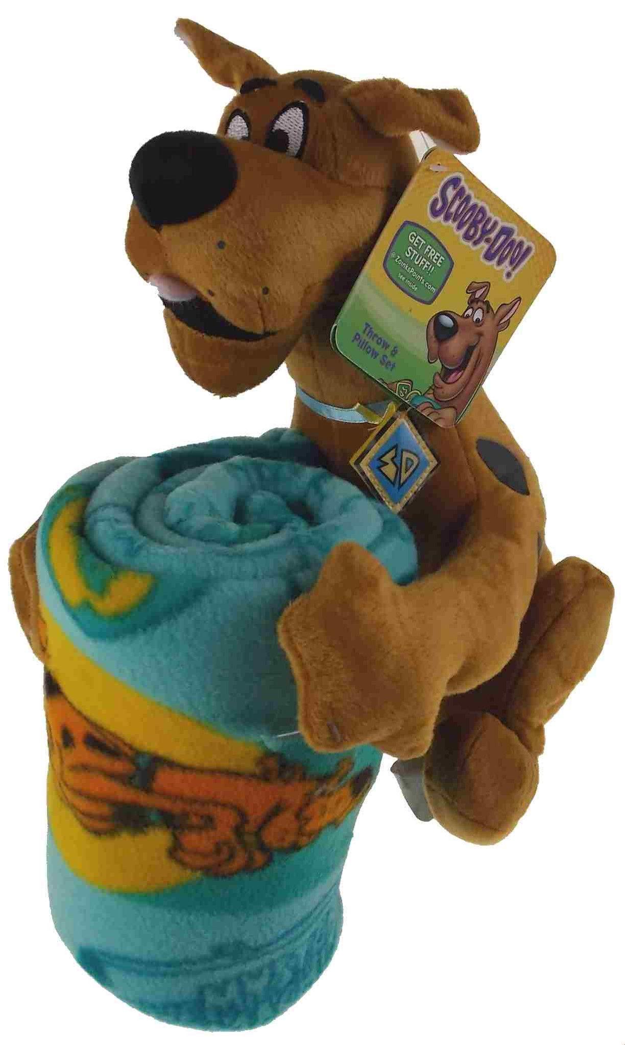 scooby doo throw pillow set hugger plush blanket soft stuffed