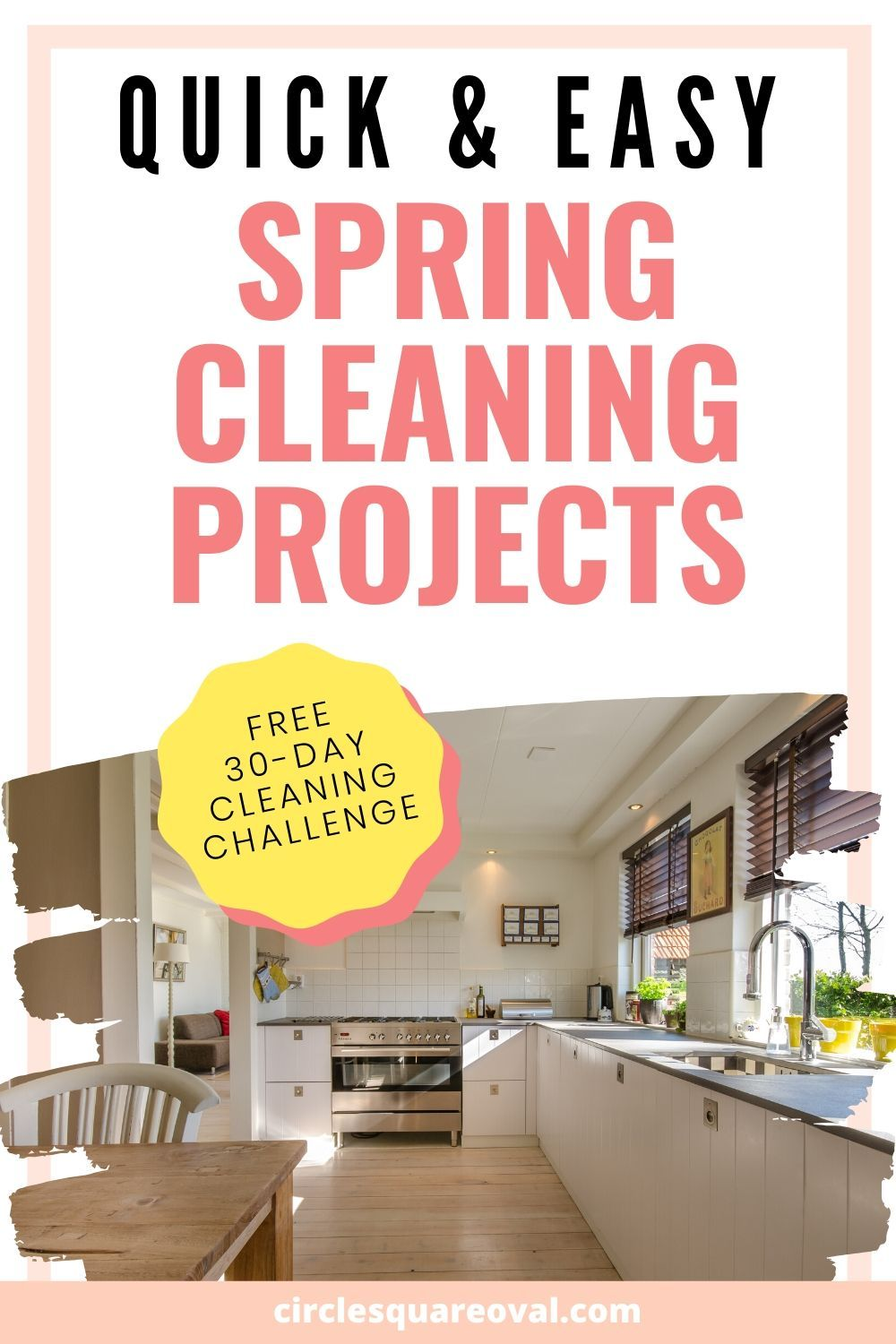 10 minutes a day is all it takes to conquer these cleaning tasks!  Get a FREE 30-day cleaning challenge, and have your house looking fantastic in no time!  #SpringCleaning #Cleaning #CleaningChallenge