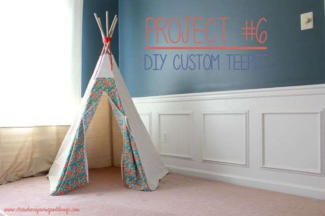 strawberry swing and other things sew fun diy teepee tutorial this is the style i want to do. Black Bedroom Furniture Sets. Home Design Ideas