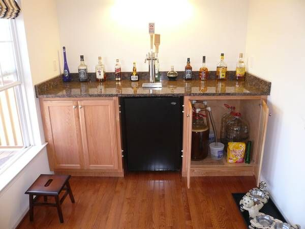 A Secret Bar With A Tap To A Kegerator In The Basement