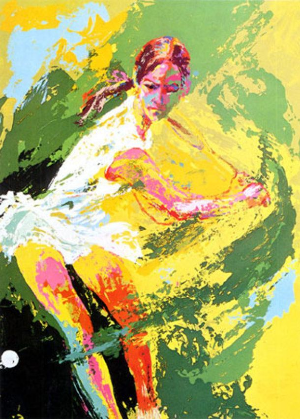Backhand Chris Evert 1974 By Leroy Neiman Sports Art Tennis Art Leroy Neiman