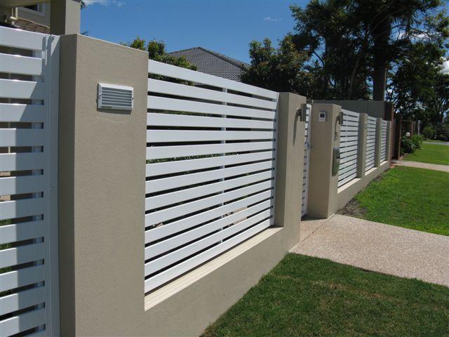 Horizontal Slat Fence Panels Brisbane Gates Home