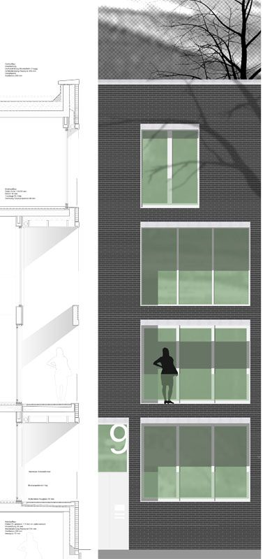 Elevation Plan Presentation : Facade detail sec elevation… samples for