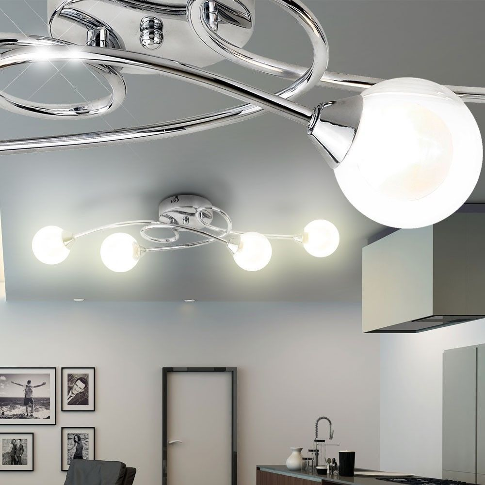 Design Beleuchtung Glas Klar Strahler Esszimmer Decken Lampe