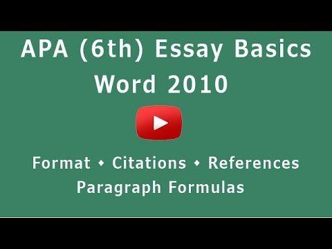 apa format word 2010