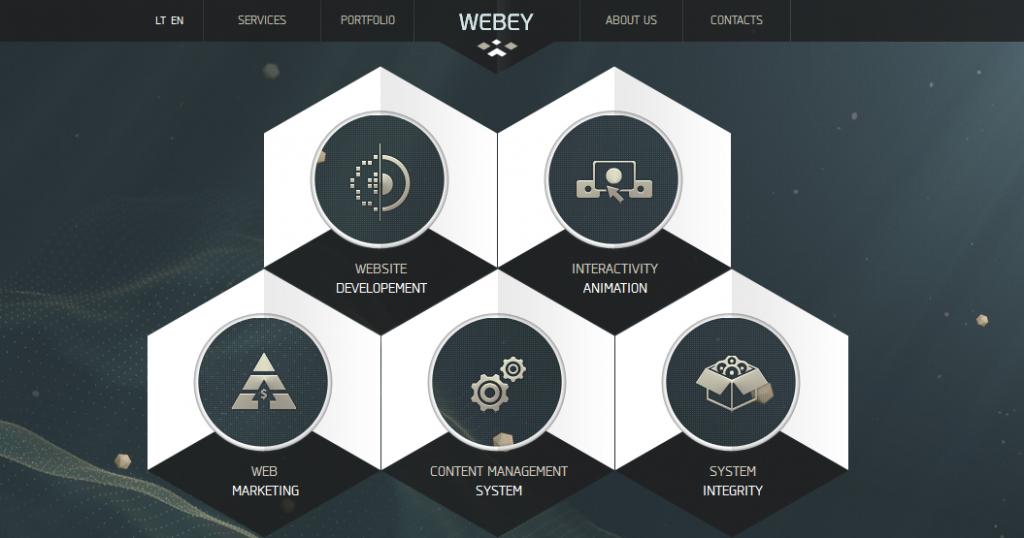Hexagon Web Design 1 Web Layout Design Web Design Hexagon