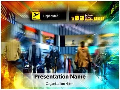 airport powerpoint template is one of the best powerpoint, Modern powerpoint