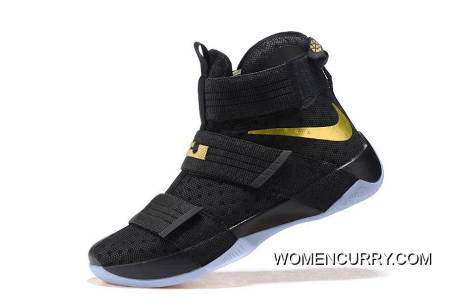 Nike LeBron Soldier 10 Finals ID. Nero oro  Online  oro  Nice scarpe   19b3b7