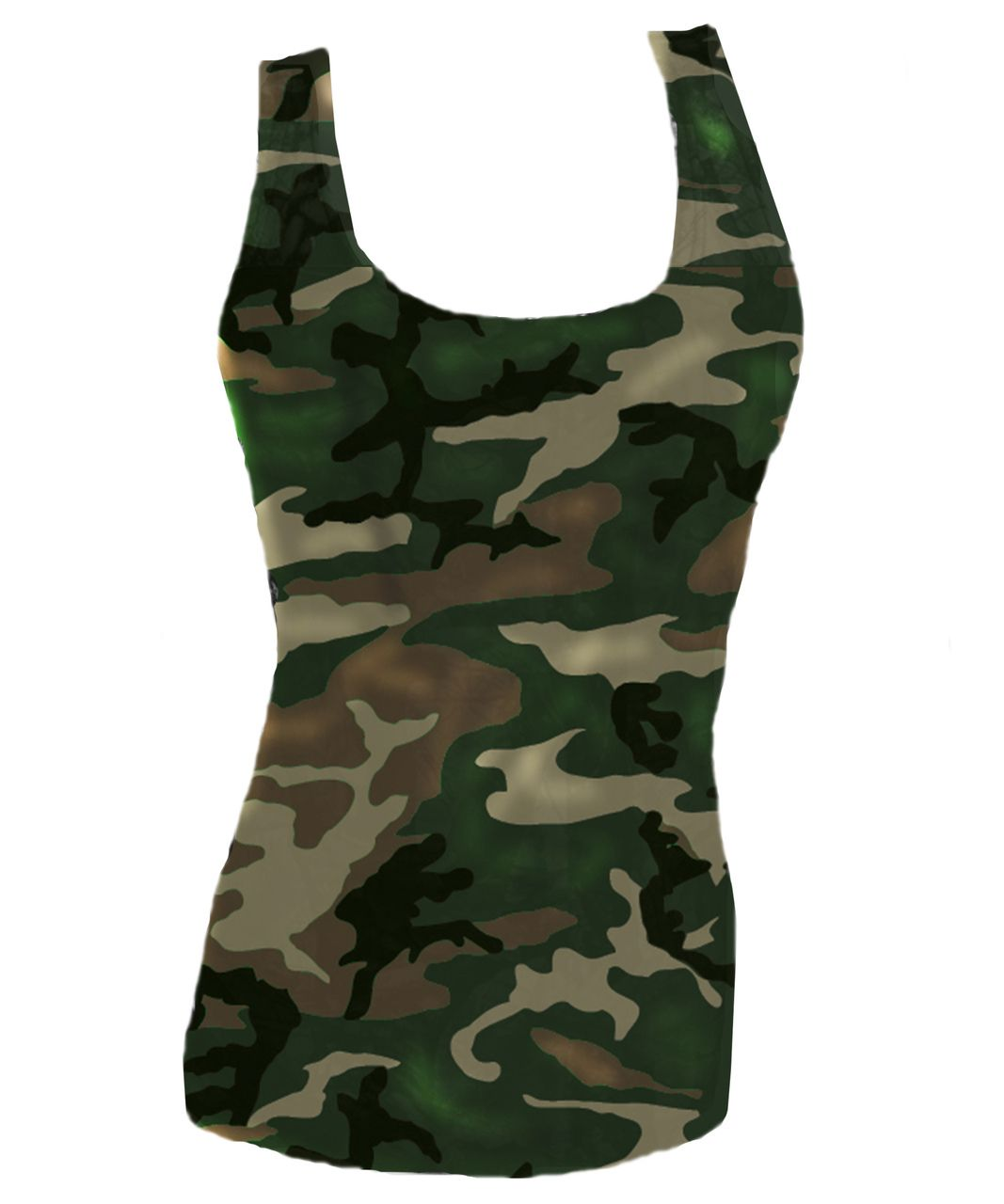 890c1158ebe14 Army Fitted Camo Tank Top For Women | Favorite Camouflage Tank Tops ...